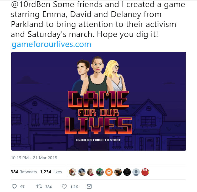 Youth create GAME for March For Our Lives