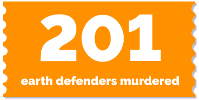 label 201 earth defenders murdered 2017